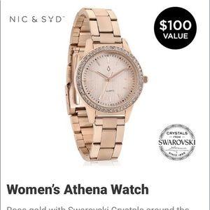 NIC & SYD Women's Rosegold  Athena Quartz Watch